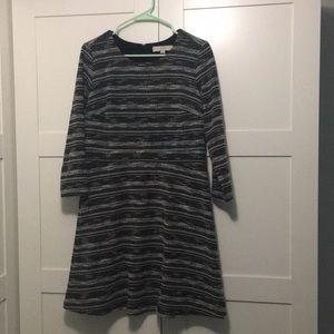 Black and white tweed dress